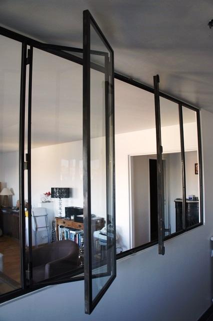 fen tre en acier de style atelier d 39 artiste battante ou. Black Bedroom Furniture Sets. Home Design Ideas