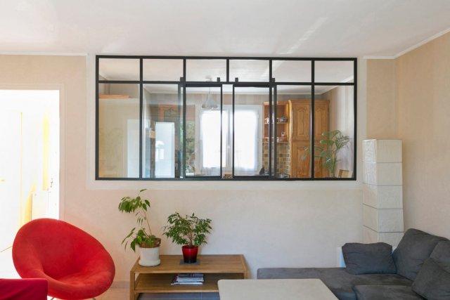 Fen tre en acier de style atelier d 39 artiste battante ou - Fenetre interieure dans cloison ...