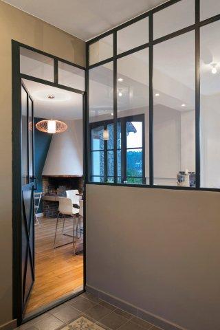 porte de style atelier d 39 artiste en acier battante ou frappe. Black Bedroom Furniture Sets. Home Design Ideas