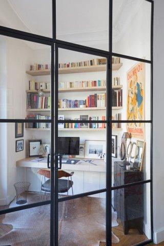 Porte de style atelier d 39 artiste en acier battante ou - Porte interieure style atelier ...