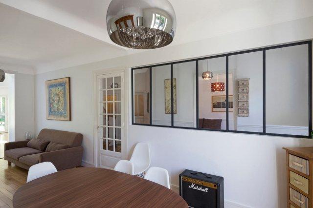 Porte coulissante atelier d 39 artiste vitr e 1 vantail ou - Fenetre style atelier d artiste ...