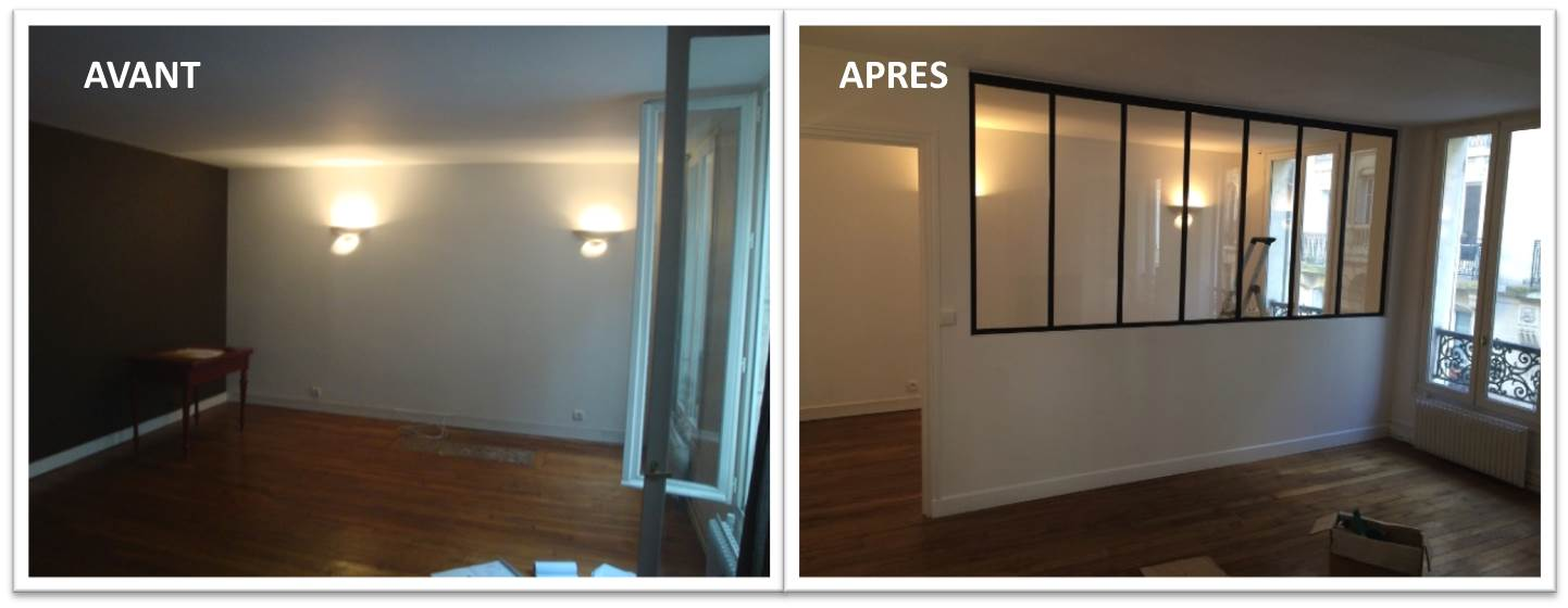 Verri re pour s parer une chambre et un salon for Separation de piece verriere