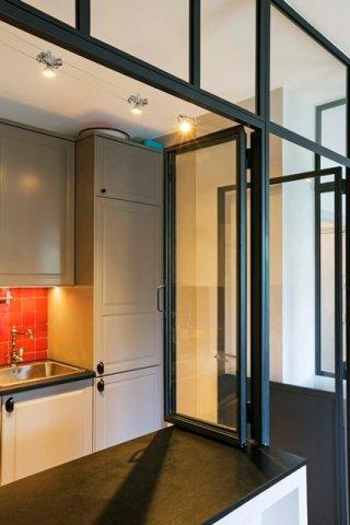 fen tre en acier de style atelier d 39 artiste battante ou coulissante. Black Bedroom Furniture Sets. Home Design Ideas