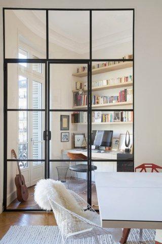 Porte De Style Atelier Dartiste En Acier Battante Ou à Frappe - Verriere porte