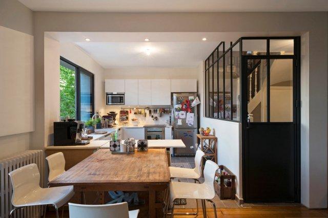Verri re et cloison atelier d 39 artiste pour une cuisine ou - Cuisine style atelier artiste ...